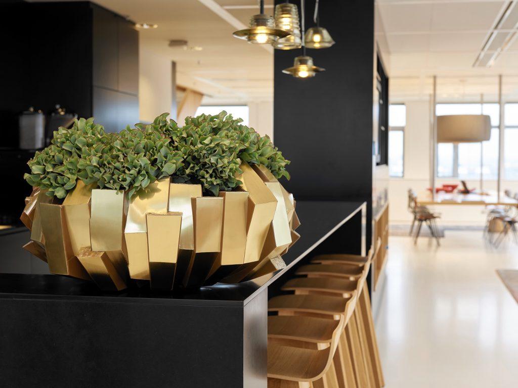 Tischgefäß gold, Haas Innengrün